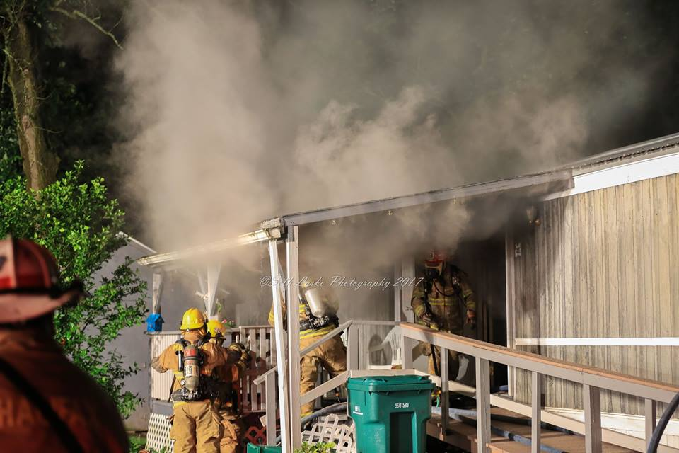 Working Mobile Home Fire